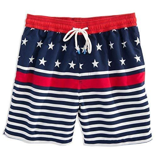 Southern Tide Men's Freedom Rocks Boxer, Red/White/Blue, XL(38-40)