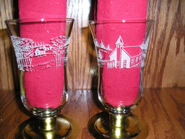 HOME INTERIOR CHURCH IN THE WILDWOOD PEG VOTIVE CUPS #1151 - $12.51