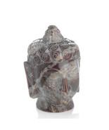 Small Buddha Head Hand Carved Gorara Stone Sculpture - $32.18
