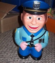 Cookie Cop 2001 Animated Talking Police Officer Cookie Jar Blinking Eyes... - $38.79
