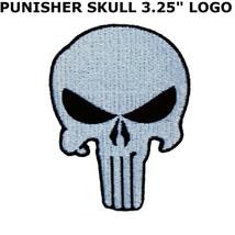 Skull Punisher Army Motorcycle Biker Rider Military Seal Sew Iron on Pat... - $12.00