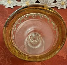 Indiana Glass Kings Crown Compote Candy Dish Gold Rimmed Flashing Thumbprint image 7