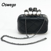 Gothic Women Single Shoulder Bag Metal Chain Crossbody Clutches Phone Or... - $31.32 CAD