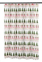 Carnation Home Fashions Christmas Time Fabric 6 by 6 Shower Curtain - $11.88