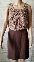 Ann Taylor Loft Women Brown Animal Print Business Sleeveless Dress Size ... - $19.80