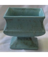 McCoy Classic Line Turquoise/Gold  Matte Color  Footed Planter 1962  - $40.00