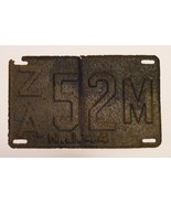 1944 NJ & 1922 PA License Plate - $30.00