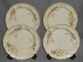 Set (4) 1980s Mikasa Heritage - Golden Sky Pattern Salad Plates Made In Japan - $49.49