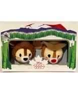 "New Disney Mini Tsum Tsum Chip and Dale Canada Set of 2 Stuffed 3.5"" Plu... - $29.65"