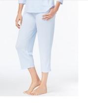 Charter Club Knit Cropped Pajama Pants, Cre Blue Alder XS, X, M - $16.00