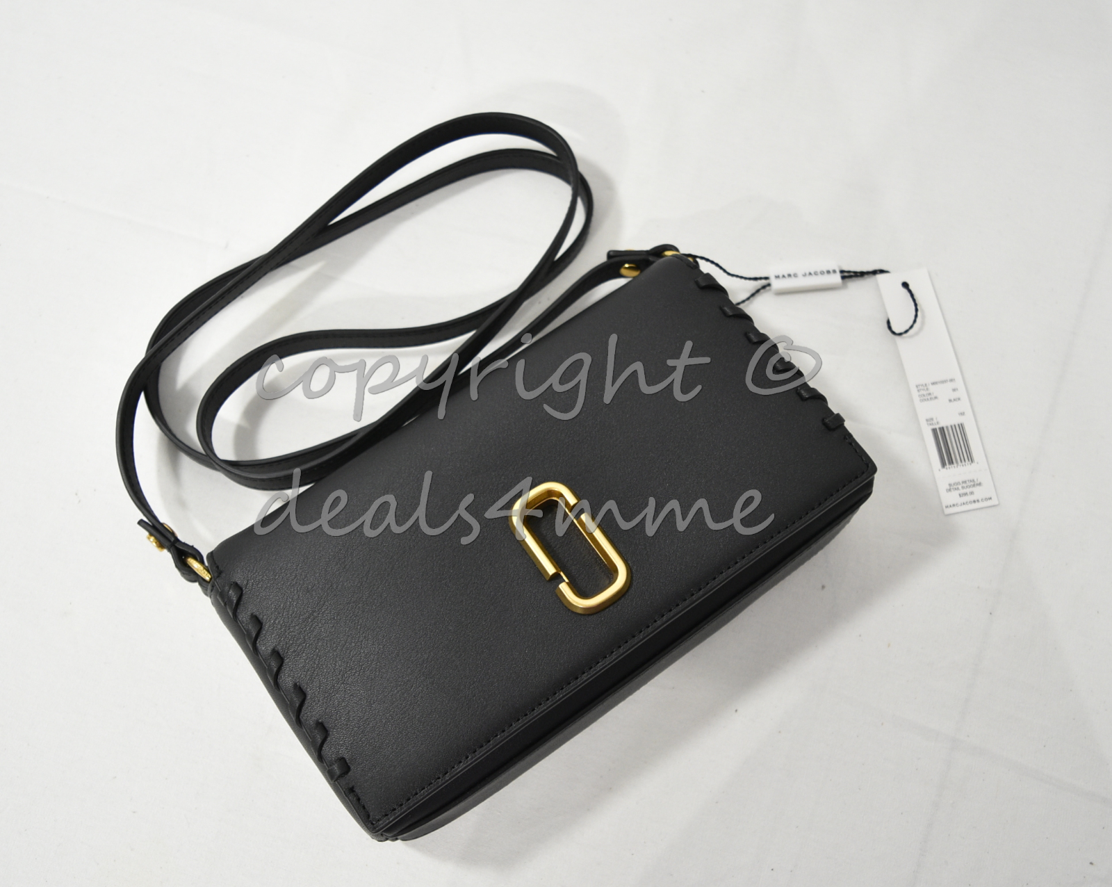 Primary image for NWT MARC By Marc Jacobs M0010237 Noho Leather Small Shoulder Bag in Black