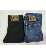 Lee Riders Sz 12 Slim 23 X 26 Girls Jeans Vintage Made In USA 2 Pair Blu... - $44.99