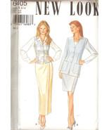 Jacket, Vest, Skirt Misses Sizes 8-18 Sewing Pattern New Look 6405 UNCUT - $5.99