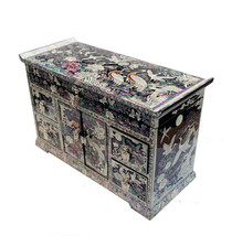 Lacquer ware inlaid new mother of pearl handcrafted jewelry,jewel box gi... - $854.03