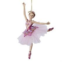 "Kurt Adler 6.75"" Pink and Purple Sugar Plum Floral Ballerina Christmas O... - $27.70"