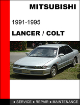 Mitsubishi Lancer 1991   1995 Oem Factory Service Repair Manual In Pdf Download - $14.95