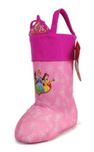 Disney princess Cinderella pink freestanding stocking holiday gift givin... - $15.83