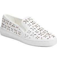 Michael Kors MK Women's Premium Designer Keaton Slip On Leather Sneakers Shoes image 7