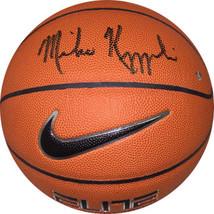 Mike Krzyzewski signed Nike Elite NCAA Basketball (Coach K / Duke Blue D... - $338.95