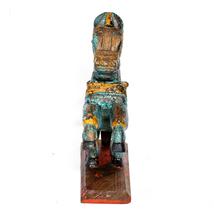 Hand-Crafted Wooden Horse Figurine Standing Statue Decorative Showpiece ... - $68.95
