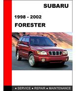 SUBARU FORESTER 1998 - 2002 OEM FACTORY SERVICE REPAIR MANUAL IN PDF DOW... - $14.95