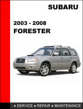 Subaru Forester 2003   2008 Oem Factory Service Repair Manual In Pdf Download - $14.95