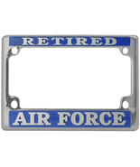 NEW USAF U.S. Air Force Retired License Plate Frame for Motorcycles. - $18.99