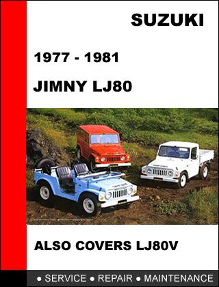 suzuki jimny lj80 1977 1981 oem factory service repair. Black Bedroom Furniture Sets. Home Design Ideas