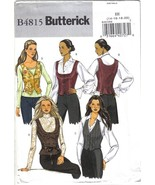 Butterick Pattern B4815 Misses Vest Various Necklines Sizes 14-20 Uncut - $6.99