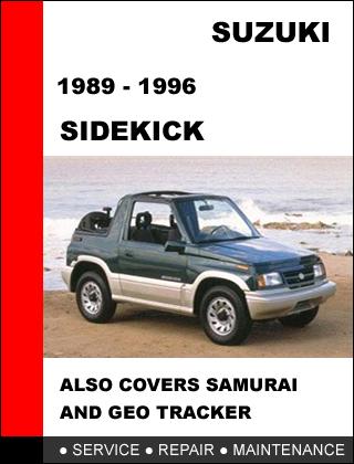 suzuki sidekick 1989 1996 oem factory service repair. Black Bedroom Furniture Sets. Home Design Ideas