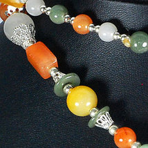 Jade Bead Nickel Necklace 34 Inch 484ct image 2
