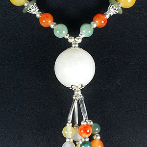 Jade Bead Nickel Necklace 34 Inch 484ct image 3