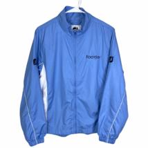 FootJoy Womens Full Zip Golf Jacket Medium Light Blue White Water Resistant Wind - $34.55