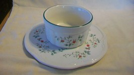 Pfaltzgraff Trivet / Serving Plate and Cheese / Butter Bowl, Holly Pattern - $29.70