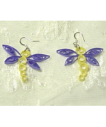 Handcrafted Paper quill Dragonfly Earrings - $12.95