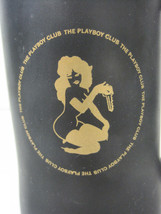 Playboy Bunny Club Key Glass Black Gold Beer Cup Mug Tanker 6 Inches Tall image 2