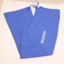 Cherokee Workwear L Blue 3 Pocket Drawstring & Elastic SCRUBS PANTS Bott... - $10.77
