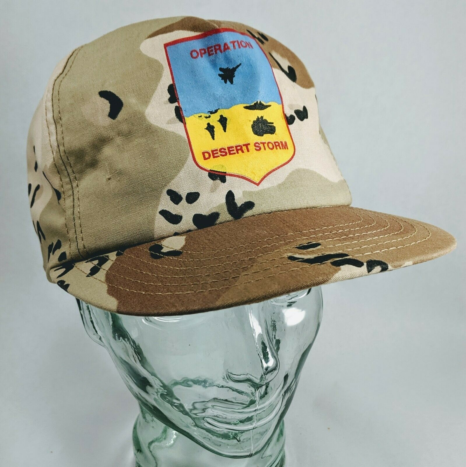 Primary image for vintage 1990s Snapback DESERT STORM Camo TRUCKER Army Ball Hat