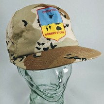 vintage 1990s Snapback DESERT STORM Camo TRUCKER Army Ball Hat - $18.49