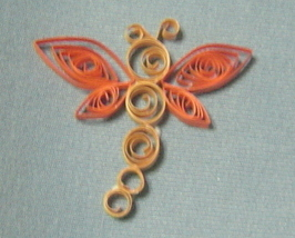 Paper Quill Dragonfly - Handcrafted - $2.50