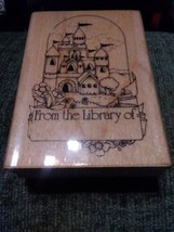 "Castle Book Plate Stamp * From the Library of... * 2 1/4"" x 3 1/4"" * Gently Used - $10.44"