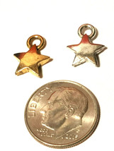 5 Point Star Fine Pewter Pendant Charm - 9x12x2mm image 2