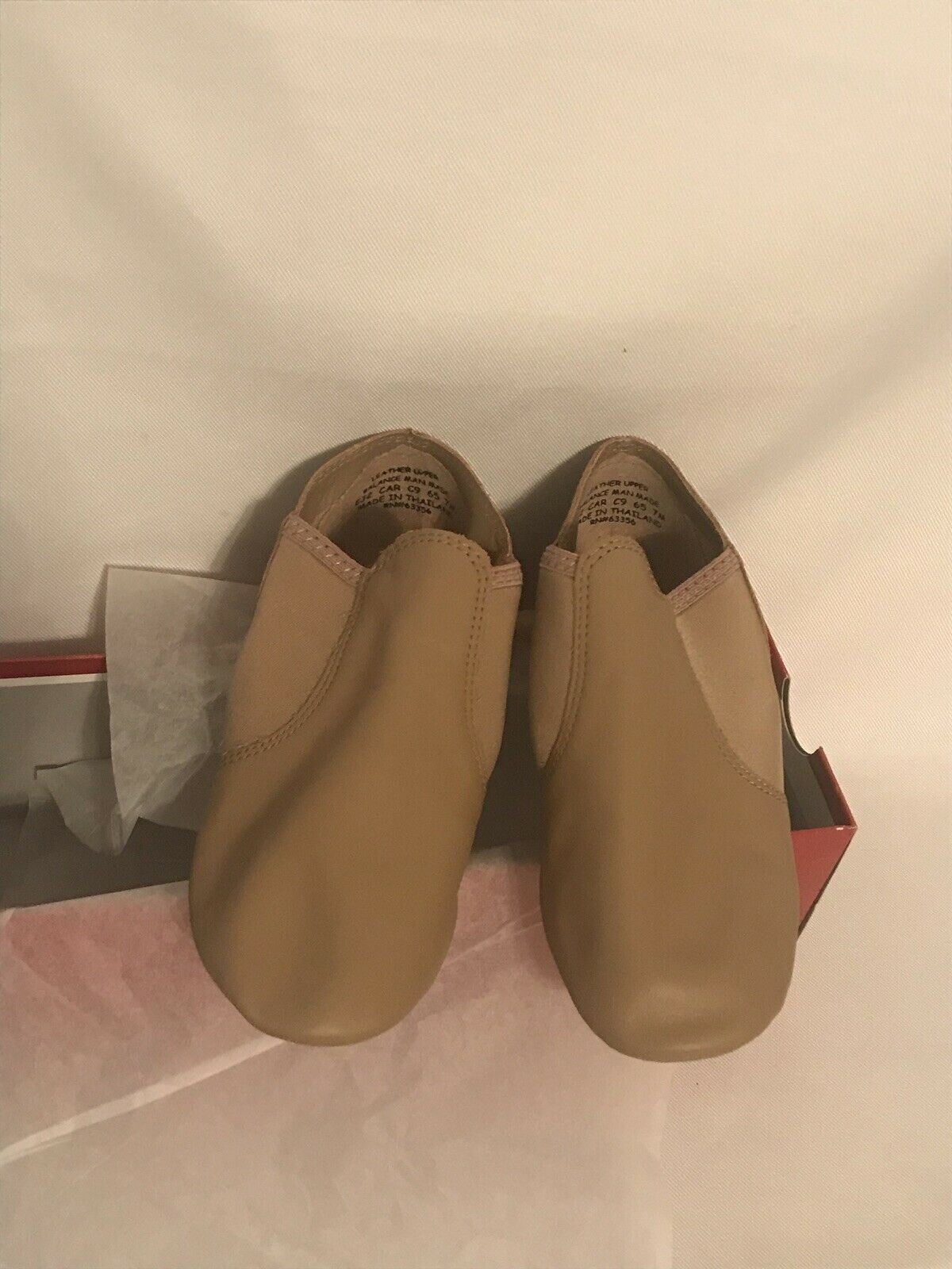 Capezio Caramel E-Series Jazz Slip On Split Sole Shoe kids size 7M