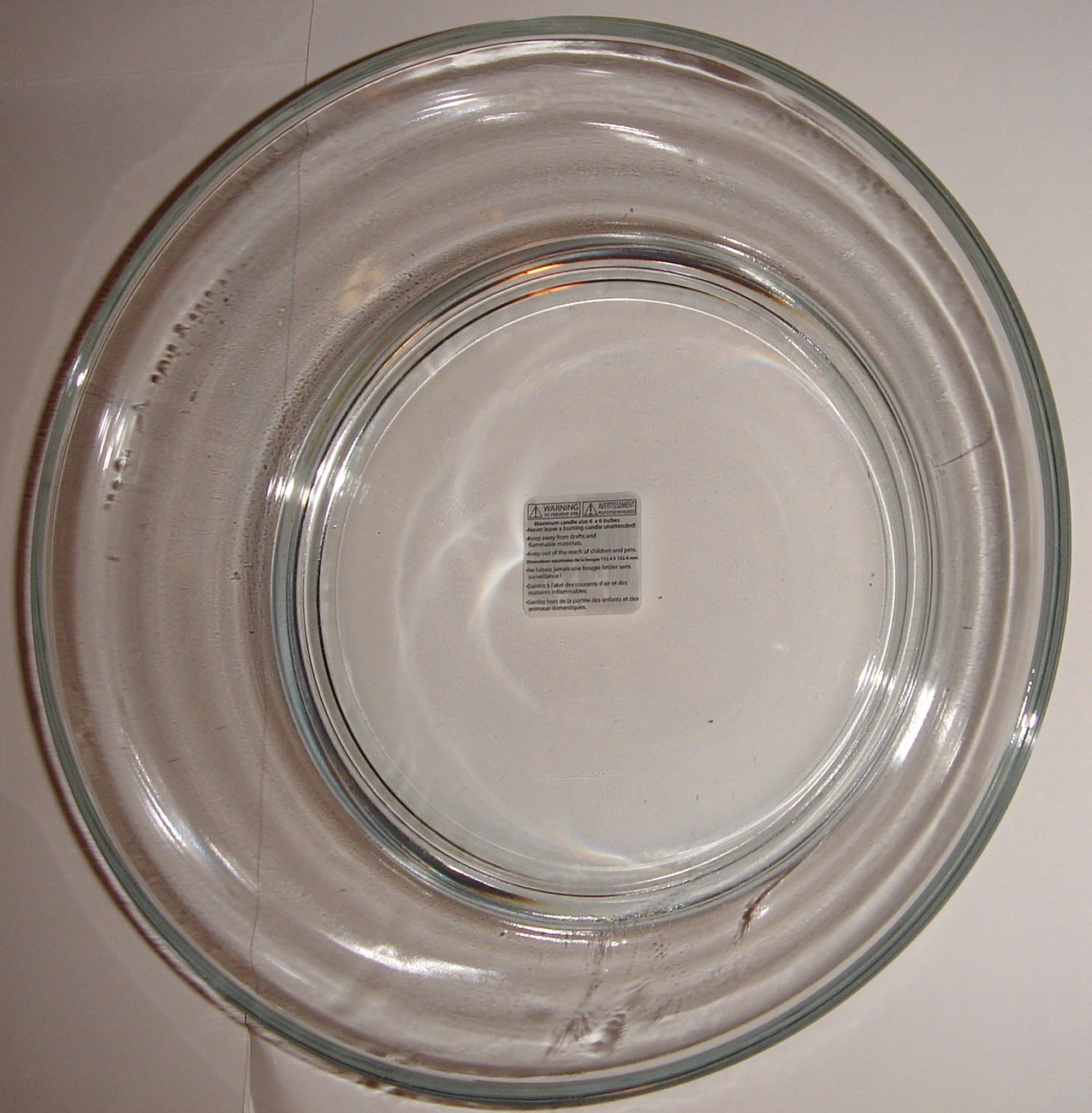 """3"""" High, Round, Clear Glass, Candle Holder ~ NEW ~"""