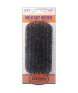Annie Soft Military Brush Dark Brown 100% Pure Boar Bristles #2082 - $4.60
