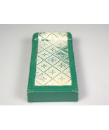 Plasco Dollhouse miniature bedroom Furniture toy green bed quilted texture - $9.99