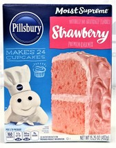 Pillsbury Moist Supreme Strawberry Cake Mix 15.25 oz - $4.00