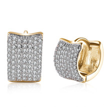 Classic Fashion 18K Gold Plated Openwork Womens Small Circle Hoop earring Party - $12.73