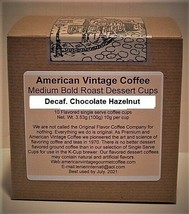 Decaf. Choc.Hazelnut Cream Dessert Coffee 10 Medium Bold Roasted K-Cups - $10.41