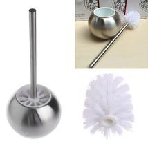 Toilet Bowl Brush Holder Stainless Steel Bathroom Cleaning Tool Base Too... - $14.81